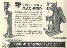 1953 Turner Machine Tools Princip Street B'ham Ad