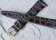 Bargain priced 18mm unpadded brown vintage watch band NOS 1960s great texture