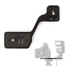 "Vertical Shoot Camera w/ Flash Bracket Dual 1/4"" Screw fr Speedlite Tripod Stand"