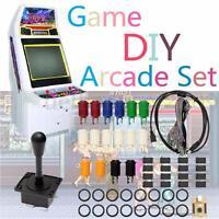 60Pcs Arcade Game MAME DIY Kit 2 Joystick 4/8 Way 16 Push Buttons For 2 Players