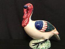 Vintage Marked Ceramic Turkey Flower Pot Bird or Flower Planter