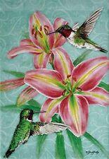 Sweet  Hummingbird Porch Flag
