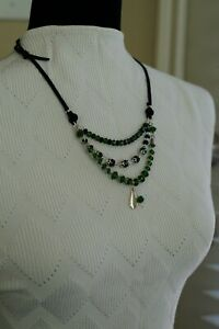 Egyptian Wrap and Leather 3 String Necklace Inspired by Sundance Catalog