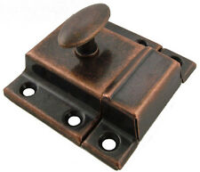 Vintage Style Flush Cabinet Latches with Antique Copper Finish