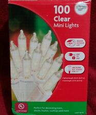 100 Clear Mini Lights Christmas~Indoor~ Outdoor Use 21.1 ft New!!!