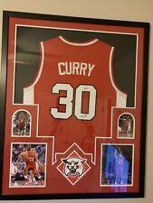 Stephen Curry Davidson Signed Framed Jersey Beckett COA