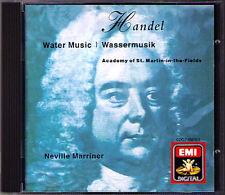 Sir Neville MARRINER HANDEL Water Music Wassermusik EMI CD Academy of St. Martin
