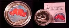 2011 Palau Large Silver Proof color $5 Anemonefish
