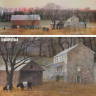 """50W""""x18H"""" IN FROM THE FIELDS by PETER SCULTHORPE BARN HERD COWS PANORAMIC CANVAS"""