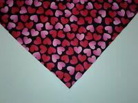 Dog Bandana/Scarf Tie On,Valentines, Red, Pink, Custom Made by Linda, M, L