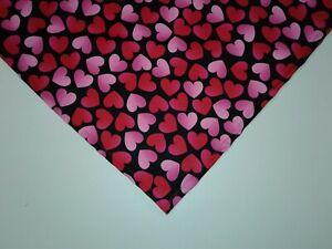 Dog Bandana/Scarf Tie On,Valentines, Red, Pink, Custom Made by Linda, L, xL