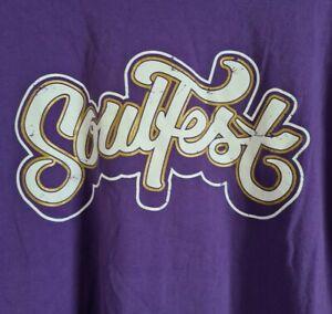 Soulfest Festival Australia T-shirt 2015 Maxwell Angie Stone Common Aloe Blacc +