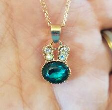 COLLANA rose-goldfarben con Verde pietre ca. 46cm Collana da donna collier c01-o