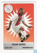 Plus Eredivisie Football tradingcard 2007/08 #8 Edgar Davids Ajax Amsterdam