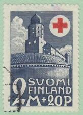 Finland #B7 used 2M+20p Red Cross top val 1931 cv $35