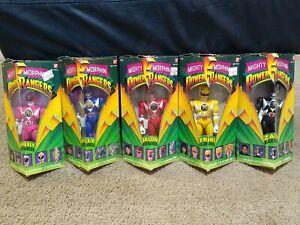 "Power Rangers - Lot Of 5x 8"" Action Figures - 1993 Bandai"