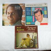 "Lot 3 Pat Boone LP Vinyl Records 'Hymns We Love' ""First Nashville Jesus Band"""