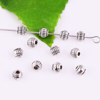 50pcs Tibetan silver Metal Round Spacer Loose Beads DIY Jewelry Findings 5mm