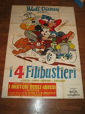 manifesto,I 4 FILIBUSTIERI,1960,WALT DISNEY ANIMAZIONE,MICKEY MOUSE
