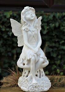 Garden Ornament Solar Fairy Angel Cherub Statue Decoration Light