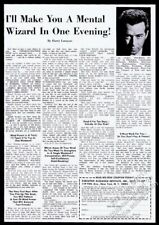 1965 Harry Lorayne photo I'll Make You A Mental Wizard vintage print ad