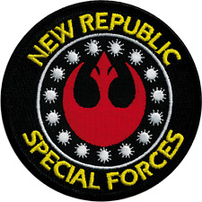 19523 Star Wars New Republic Special Forces Logo Embroidered Sew Iron On Patch