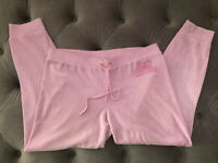 Juicy Couture Women Embellished Logo Jogger Velour Track Sweat Pants L Pink