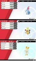 Pokemon Sword & Shield SHINY HIDDEN ABILITY SCORBUNNY SOBBLE GROOKEY 6IV BUNDLE