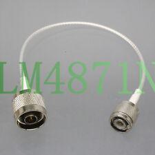 """TNC Male to N Plug for CB Ham Radio U/V Antenna RG316 8"""" RF Coaxial Teflon Cable"""