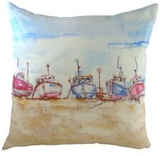 "17"" Fishing Fleet Jennifer Rose Cushion Evans Lichfield DP785 43cm Beach Boat"