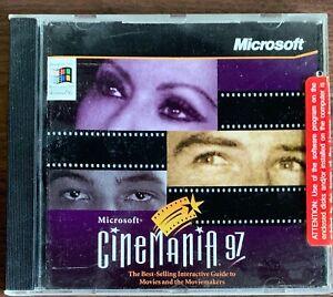 NEW Microsoft Cinemania 97 Software CD Windows 95 Movie Film Guide For PC 1997