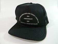 Oakland County Michigan Cap Hat Mesh Snapback Faternal Order Of Police Black