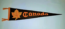 "EARLY 1900'S  ANTIQUE ORANGE, YELLOW & BROWN ""CANADA"" FELT TRAVEL PENNANT"