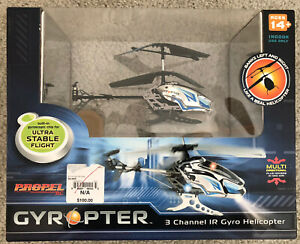 PROPEL GYROPTER 3 CHANNEL IR GYRO HELICOPTER, NEW In Box