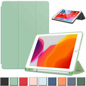 For iPad 5/6/7/8/9th Gen Air 3 4 Pro 11 Flip Smart Case Cover With Pencil Holder