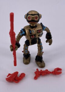 Vintage 1990 TMNT Teenage Mutant Ninja Turtles Fugitoid Figure Complete Rare Toy