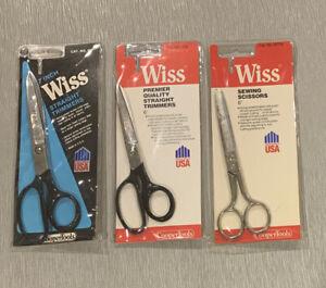 Lot of 3 Wiss USA Scissors