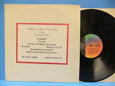ASU Arkansas State University Symphonic Band In Concert 1977 Silver Crest 4677