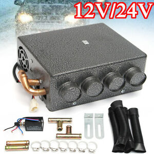 12V 4 Port Car Underdash Universal Double Compact Air Heater Heat + Speed Switc