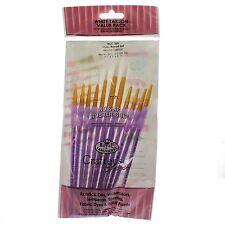RCC-305 Artists Crafter paint brush 11pc round set white taklon value pack
