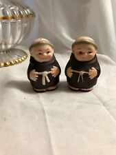 "Goebel Friar Monk Salt and Pepper Shakers 2 3/8"" Germany"