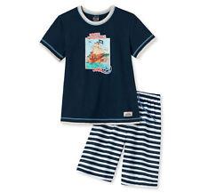 Schiesser Jungen Schlafanzug Pyjama kurz dunkelblau