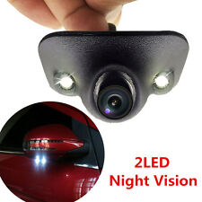 Waterproof 170° HD Car Front/Side/Rear View Blind Spot Camera 2 LED Night Vision