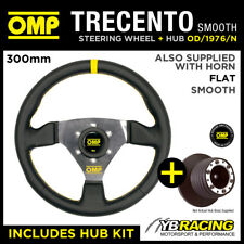 BMW 7 SERIES ALL 86-94 OMP SMOOTH LEATHER 300mm TRECENTO STEERING WHEEL & BOSS
