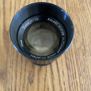 Kalart Victor Automatic f=1.2 2 Inch 16mm projector lens- Vintage