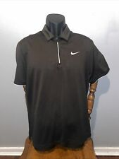 Nuke Dry Fit 1/4 Zip Polo Short Sleeve Size Medium Great Condition