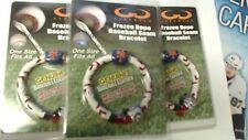 LOT OF 3 /Gamewear New York Mets Frozen Rope Baseball Bracelet