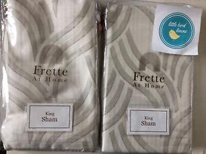 Set of Two FRETTE King Shams LEVANTO  Stone (color) Brand New