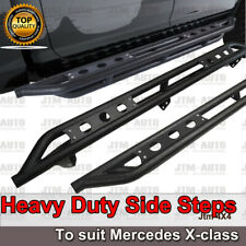 Heavy Duty Armor Black Off road Side Steps to suit Mercedes Benz X-class 2018+