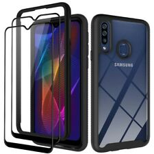 For Samsung Galaxy A20s Hybrid Armor Case Protective Cover+Full Screen Protector